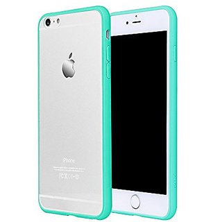 iPhone 6 Plus Case,PZOZ Clear Ultra Thin Simple Design Silicone Soft Border Case for iPhone 6/6s plus 5.5 inch(Green)