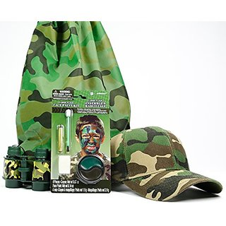 Kids Camouflage Bundle With Face Paint Kit