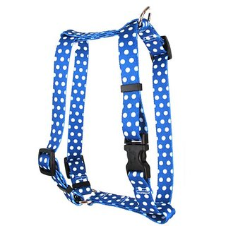 Yellow Dog Design Pet Harness, X-Small, Navy Polka