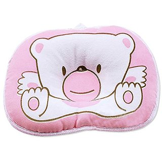 Niceeshop (TM) Pink Bear Soft Cotton Baby Infant Toddler Sleeping Flat Head Support Pillow Positioner