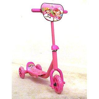 Pink Toddler Three-Wheel Balance Kick Scooter (Girls)