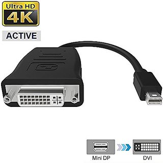 FOINNEX Active 4K Mini Displayport to DVI Adapter Supports AMD Ati Eyefinity Multi-screen Display Function Up to 6,MDP (