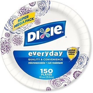 Super Mega Pack Dixie Everyday Disposable Paper Plates, 10.0625