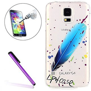Samsung Galaxy S5 Case EMAXELER Illustration Painting Premium Transparent Clear Slim TPU Soft Rubber Silicone Skin Cover