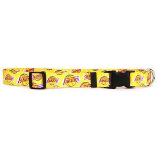 Yellow Dog Design Los Angeles Lakers 18-Feet to 28-Feet Collar, Large