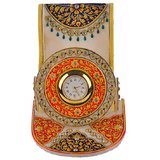 Sparkling Drop Exclusive Jaipur Handmade Portable & Unique Marble Home Decor - Mobile Stand With Clock (VFMSM0032)