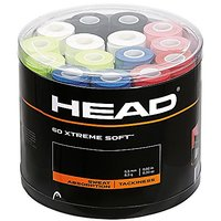 HEAD Extreme Soft Overgrip Jar, 60 Assorted Colors Tennis Overgrip Jar, 60 Assorted