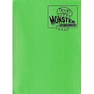 Monster Binder - 9 Pocket Trading Card Album - Matte Emerald Green (Anti-theft Pockets Hold 360+ Yugioh, Pokemon, Magic