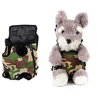 BeautyMood Front & Back Pack Durable Breathable Pet Outdoor Carrier Safe Bag For Small Puppy Dogs, Small/Medium/Large (M