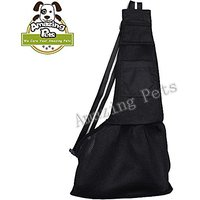 Amazing Pets Medium Black Nylon Cloth Sling Pet Dog Cat Carrier Bag