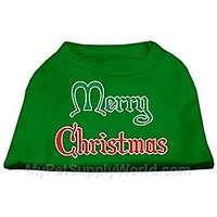 Mirage Pet Products 18-Inch Merry Christmas Screen Print Shirts For Pets, XX-Large, Emerald Green