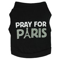 DroolingDog Pet Dog Pray For Paris T-shirt Vest (large)