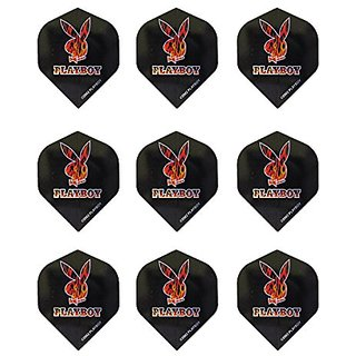 Winmau Playboy Standard Dart Flights - 3 Sets of Flights (9 Flights Total) (Playboy Bunny Flames)