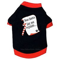 DroolingDog Pet Dear Santa Let Me Explain Dog T-shirt (Small)