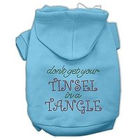 "Mirage Pet Products 14"" Tinsel In A Tangle Rhinestone Hoodies Baby, Large, Blue"