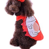 Alfie Pet By Petoga Couture - Joey Dino Tank - Color: Red, Size: XS