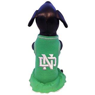 NCAA North Dakota Fighting Sioux Cheerleader Dog Dress (Team Color, Medium)