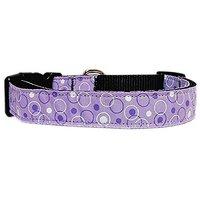 Mirage Pet Products Retro Nylon Ribbon Collar, Medium, Lavender