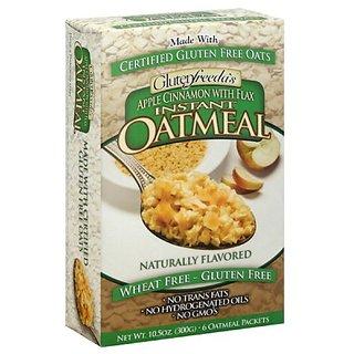 Glutenfreeda Instant Oatmeal Apple Cinnamon, 10.5000-ounces (Pack of4)