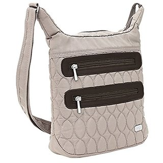 Lug Sidesaddle Cross Body Bag, Sand Taupe, One Size