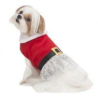 Fashion Pet Holiday Pet Dress, Medium, Red