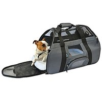 KritterWorld Portable Comfort Soft Sided Airline Approved Pet Travel Carrier Bag For Dog/Cat Small Animals Tote W/ Built
