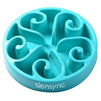 Slow Feeder Bowl - Siensync(TM) Fun Feeder Interactive Bloat Stop Dog Bowl, Eco-friendly Durable Non Toxic Bamboo Fiber