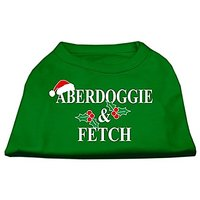 Mirage Pet Products 18-Inch Aberdoggie Christmas Screen Print Shirts For Pets, XX-Large, Emerald Green