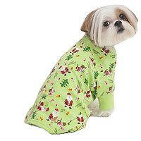 Fashion Pet Holiday Pet Pjs, X-Small, Green