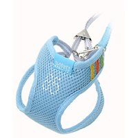 Sky Blue Pet Dog Vest Harness W Leash Nylon Mesh Size 1