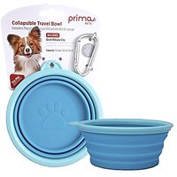 Prima Pet Expandable/ Collapsible Silicone Food & Water Travel Bowl With Clip For Small & Medium Dog And Cat, Size: 1.5