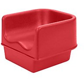 Cambro 100BC158 Hot Red Single Height Booster Seat Without Strap