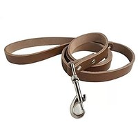 Goliton? Pure Leather Pet Leashes Dog Training Running With Medium And Large Dogs-Brown