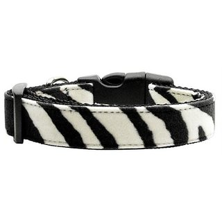 Mirage Pet Products Animal Print Nylon Collars, Medium, Zebra