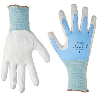 Bellingham Glove Nitrile Touch 3700 Gloves, Large, 1 pair (Colors may vary)