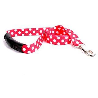 Yellow Dog Design Strawberry Polka Dot EZ Grip Lead, 1-Feet by 60-Feet