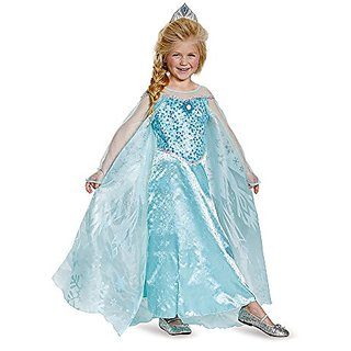Disguise Elsa Prestige Child Costume, X-Small (3T-4T)
