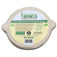 Disposable Pet Bowls 12 Pack Earth Friendly Clean Healthy Bowls For Dogs And Pets Biodegradable Compostable Non-Allergen