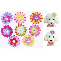 "Yagopet 20pcs Dog Hair Bows Clips Sunflower Colorful 2.2"" Rhinestone Bows Alligator Clips Dog Topknot Bows Pet Dog Groom"