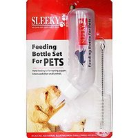 Sleeky Feeding Bottle Set For Pets, Hand Feeding Kit For Nursing Puppies, Kitten And Other Animals