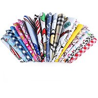 PET SHOW Pet Dog Cat Puppy Bandana Bibs Triangle Head Scarfs Accessories Assorted Color For Boys Pack Of 10