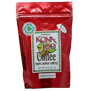 Kona Joe Coffee Kainaliu Medium Roast, Whole Bean, 8-Ounce Bag