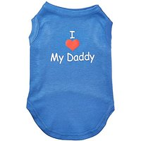 Mirage Pet Products 14-Inch I Love My Daddy Screen Print Shirts For Pets, Large, Blue