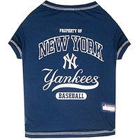 Pets First MLB New York Yankees Dog Tee Shirt, Small
