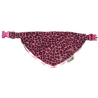 Optodigital Slim LED Bandana for Dogs, Leopard, Small, Pink, 1 Unit Per Pack