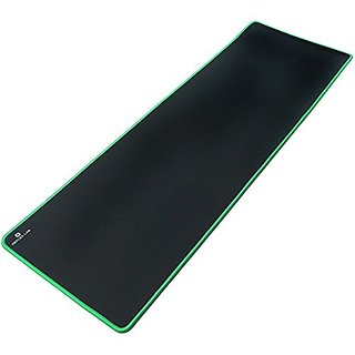 Reflex Lab Large Extended Heavy Mouse Pad / Mat, (Green) Stitched Edges, Waterproof, Ultra Thick 5mm, Silky Smooth - 36