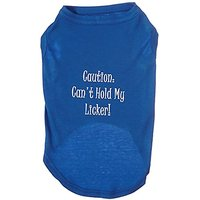 Mirage Pet Products 16-Inch Cant Hold My Licker Screen Print Shirts For Pets, X-Large, Blue