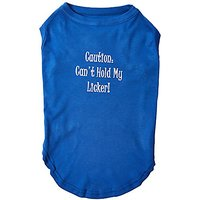 Mirage Pet Products 18-Inch Cant Hold My Licker Screen Print Shirts For Pets, XX-Large, Blue