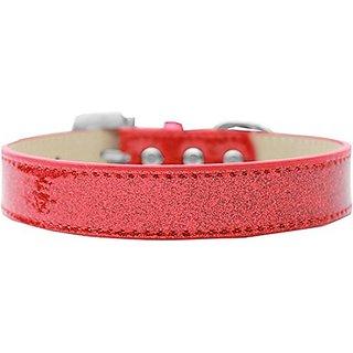 Mirage Pet Products 509-7 RD-12 Lincoln Plain Ice Cream Dog Collar, Red, Medium