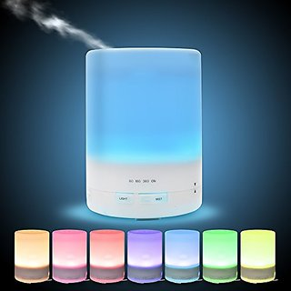 Longko 300ml Changing Color Ultrasonic Aroma Diffuser Cool Mist Humidifier Essential Oil Air Purifier Lights Auto Shut-o